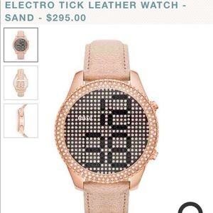 Women's Fossil rose gold crystal watch